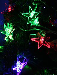 Недорогие -7M 30-светодиодный Luckystar-Shaped Красочный светодиодные Газа Fairy лампы для фестиваля украшения (220)