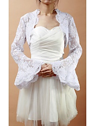 cheap -Long Sleeves Lace Wedding Party Evening Wedding  Wraps Coats / Jackets