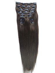 cheap -24 Inch 10 Pcs 100% Indian Remy Hair Silky Straight Clip In Hair Extensions