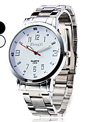 cheap -Men's Wrist watch Dress Watch Fashion Watch Quartz Casual Watch Alloy Band Charm Silver