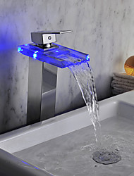 cheap -LED / Waterfall Contemporary Chrome Brass Centerset