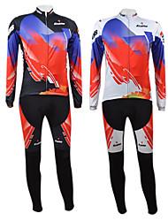 Kooplus Calça com Camisa para Ciclismo Homens Manga Longa Moto Conjuntos de Roupas Inverno Roupa de Ciclismo Secagem Rápida Zíper Frontal