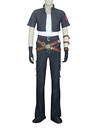 Inspired by Kingdom Hearts Squall Video Game Cosplay Costumes Cosplay Suits Short Sleeve Coat / Pants / Armlet / Gloves / Waist Accessory