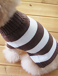 cheap -Cat Dog Sweater Dog Clothes Keep Warm Fashion Stripe Costume For Pets