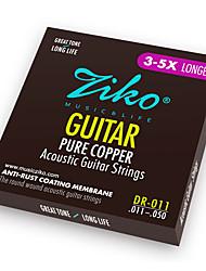 Недорогие -ZIKO - (DR011) Чистая медь акустической гитары Струны (011-050)