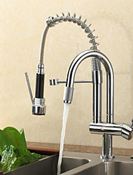cheap -Kitchen faucet - Contemporary Chrome Pull-out / ­Pull-down Deck Mounted
