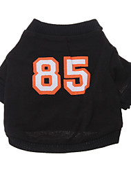 cheap -Dog Shirt / T-Shirt Jersey Dog Clothes Letter & Number Cotton Costume For Pets