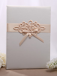 cheap -Embroidered Ivory Tri-Fold Large Guestbook Wedding Ceremony Beautiful