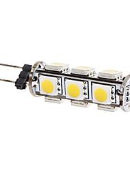 g4 ha condotto le luci di mais t 13 smd 5050 180lm bianco caldo 3000k dc 12v
