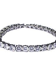 Elegante finitura platino con bracciale in lega di cristallo / zirconi donne
