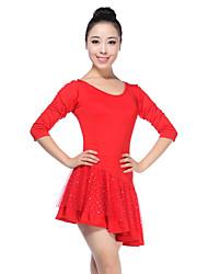 cheap -Latin Dance Dresses Women's Training Viscose Natural Elegant Style