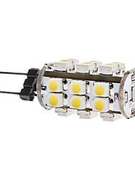 1.5w g4 ha condotto le luci di mais t 28 smd 3528 180lm bianco caldo 3500k dc 12v