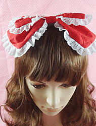 cheap -Lolita Jewelry Sweet Lolita Dress Headwear Princess Women's Pink Black Blue Red Lolita Accessories Solid Bowknot Headpiece Cotton