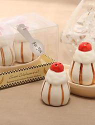 baratos -Sobremesa doce de design de cerâmica abanadores de sal e de pimenta (Conjunto de 2)