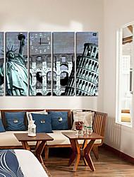 billige -moderne naturskønne lærred vægur 5pcs k024
