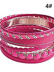 7 шт кожа и сплав браслеты набор (ассорти цветов) элегантный стиль