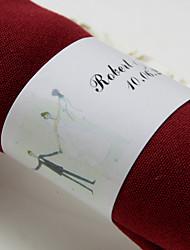 anneau de serviette en papier personnalisé - mariage heureux (ensemble de 50) réception de mariage