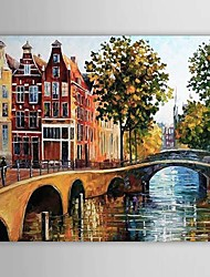 billige -Hånd-malede Landskab Et Panel Canvas Hang-Painted Oliemaleri For Hjem Dekoration