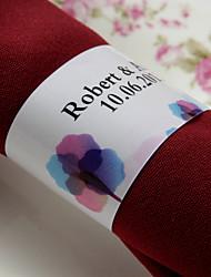 anneau de serviette en papier personnalisé - impression de mariage (lot de 50)