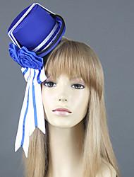 Hat/Cap Inspirirana Crna Butler Ciel Phantomhive Anime Cosplay Pribor Kratki / Šešir Bijela / Plava Uniform Cloth Male