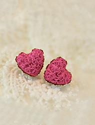 preiswerte -Damen Vogel Herz - Party Liebe Europäisch Weiß Rot Rosa Tier Ohrringe Für
