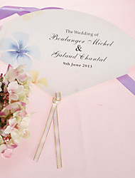personalizirane biser papir rukom fan - plavi cvijet (set od 12)