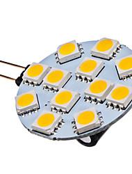 1.5W G4 LED-spotlys 12 SMD 5050 70 lm Varm hvid Jævnstrøm 12 V