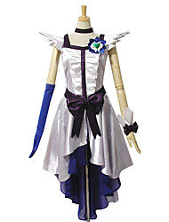 Inspired by Pretty Cure Cure Moonlight Anime Cosplay Costumes Cosplay Suits Dresses Patchwork Sleeveless Dress Headpiece Glove Bracelet