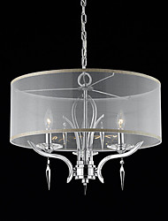 cheap -Max 50W Modern/Contemporary / Drum Crystal Chrome Chandeliers Living Room / Bedroom / Dining Room / Study Room/Office