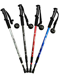 3 Folding Straight Type Functional Hiking Poles (Random Color)
