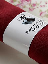 anneau de serviette en papier personnalisé - love (set of 50) wedding reception