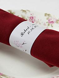 anneau de serviette en papier personnalisé - couple heureux (ensemble de 50) réception de mariage