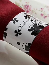 personalizirani prsten papirnatih papira - crni cvijet (set od 50) vjenčani prijem