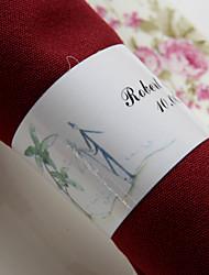 preiswerte -Hochzeit Servietten - 50pcs Serviettenringe Hochzeit Jahrestag Verlobungsfeier Brautparty Strand