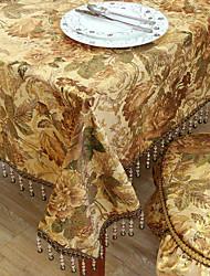 billige -Traditionelle Polyester Khaki Print Floral duge