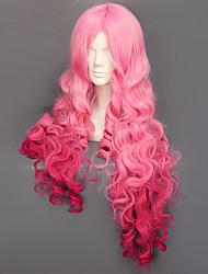 Cosplay Wigs Cosplay Ringo Tsukimiya Pink Long Anime/ Video Games Cosplay Wigs 90 CM Heat Resistant Fiber Female