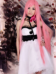 Inspiriert von Vocaloid Megurine Luka Video Spiel Cosplay Kostüme Cosplay Kostüme Kleider Patchwork Ärmellos Kleid Kopfbedeckung