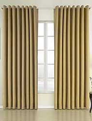 cheap -Curtains Drapes Bedroom Solid Colored 100% Polyester Polyester Embossed