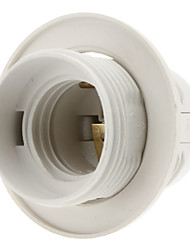 E27 Base Bulb Screw Thread Socket Lamp Holder (White)