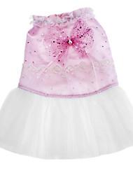 Chien Robe Vêtements pour Chien Mariage Mode Paillettes Rose Costume Pour les animaux domestiques