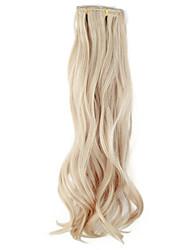 billige -Høj kvalitet syntetisk 45 cm Clip-In Silky Wavy Hair Extension 6 farver at vælge