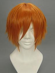 Parrucche Cosplay Il maggiordomo diabilico Puppet Master Arancione Corto Anime Parrucche Cosplay 32 CM Tessuno resistente a calore Uomo