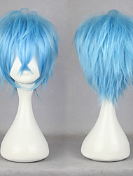cheap -Cosplay Wigs Karneval Cosplay Blue Short Anime Cosplay Wigs 30 CM Male / Female