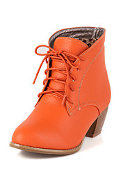 Da donnaCasual-Stivali-Quadrato-Finta pelle-Nero / Marrone / Beige / Arancione