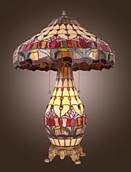 billiga -Tiffany bordslampa med 2 lampor (GALVANISERA fullföljande)