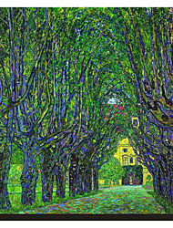 cheap -Tree-Lined Road Leading to the Manor House at Kammer, Upper Austria, 1912 by Claude Monet Famous Stretched Canvas Print