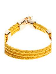 preiswerte -einfarbig Kreuz weben Leder Galloon Armband eleganten Stil