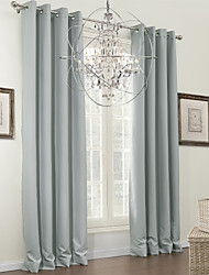 cheap -Two Panels Curtain Modern Solid Living Room Polyester Material Blackout Curtains Drapes Home Decoration
