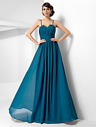 cheap -A-Line Princess Spaghetti Straps Sweetheart Floor Length Chiffon Evening Dress with Beading by TS Couture®