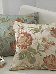 cheap -2 pcs Polyester Pillow Cover, Floral Traditional